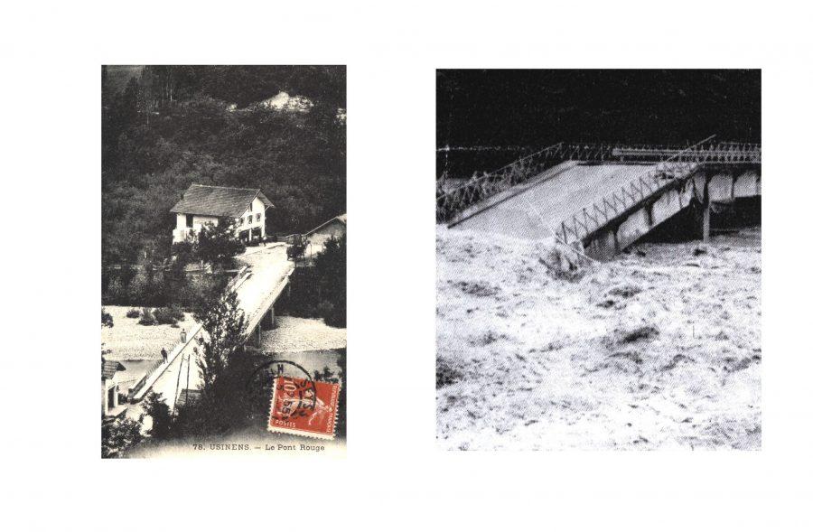 pont rouge détruit