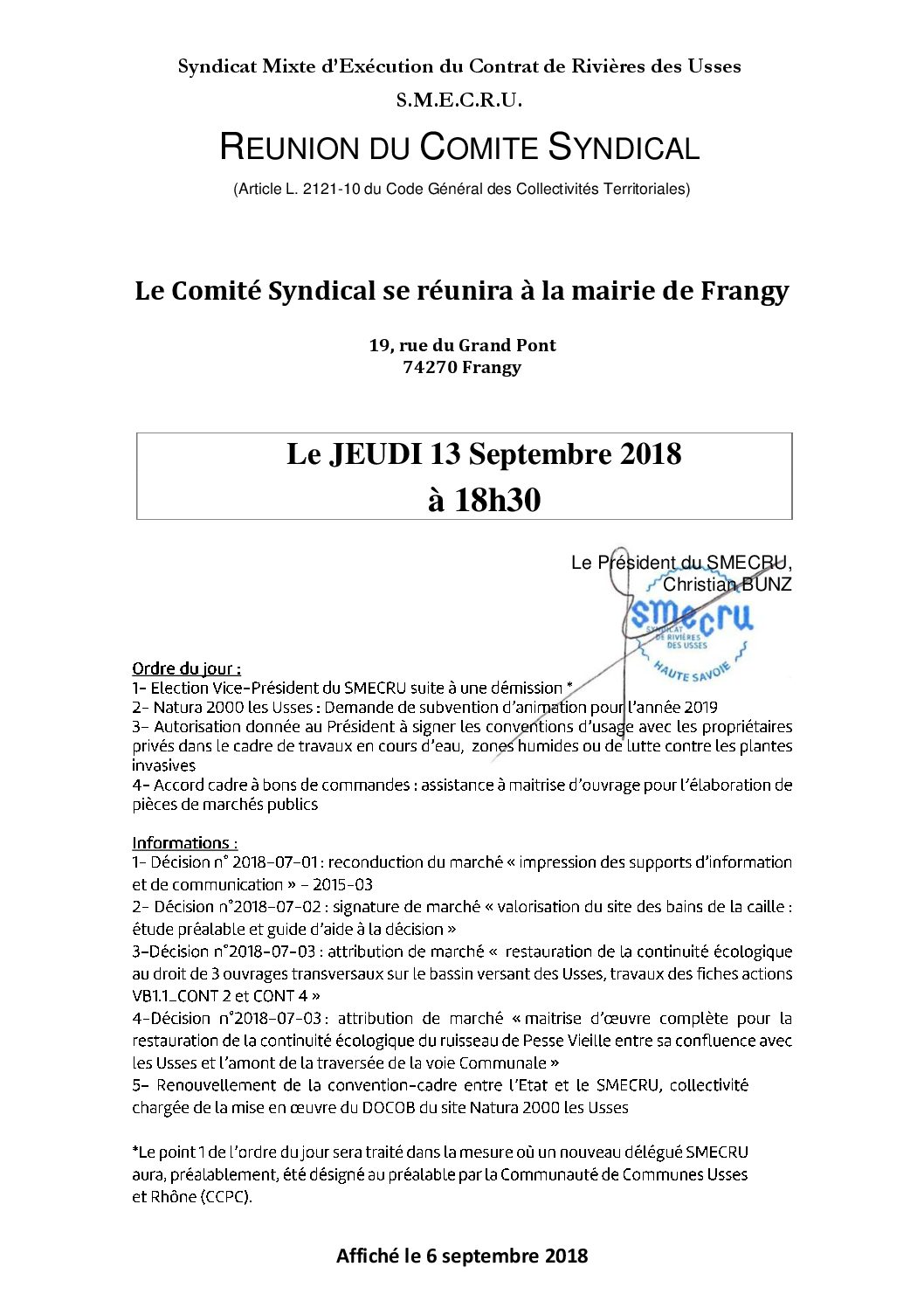 1_Affichage officiel 13-09-2018